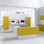 Design-Küche mit einer elektrisch höhenverstellbaren Kochinsel. Kurze Wege und effiziente Arbeitsabläufe ergeben sich aufgrund der Planung entsprechender Funktionszonen bzw. Arbeitsbereiche. (Foto: AMK)