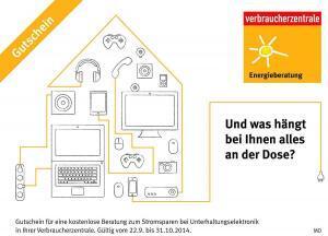 Kostenlose Beratung zum Stromsparen Grafik: Verbraucherzentrale Bundesverband e.V./akz-o