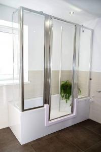 Auch der Umbau von der Badewanne zur Dusche - mit einem Einstieg in die Badewanne und einer Duschkabine - ist unkompliziert und schnell möglich. Foto: djd/Tecnobad Deutschland