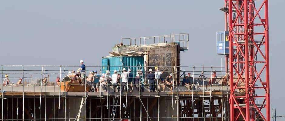 Baustelle beim Wohnungsbau Foto: Petra Schmidt / pixelio.de
