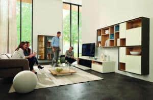 Guter Sound im Wohnzimmer Ansprechende Hifimöbel von Hülsta Neue Technik zu Weihnachten Foto: Hülsta/akz-o
