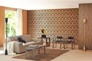 """Kupfer passt perfekt zu einem klassisch-stilvollen Ambiente - wie hier in """"Gentle Elegance"""" von Rasch.Foto: djd/Deutsches Tapeteninstitut"""