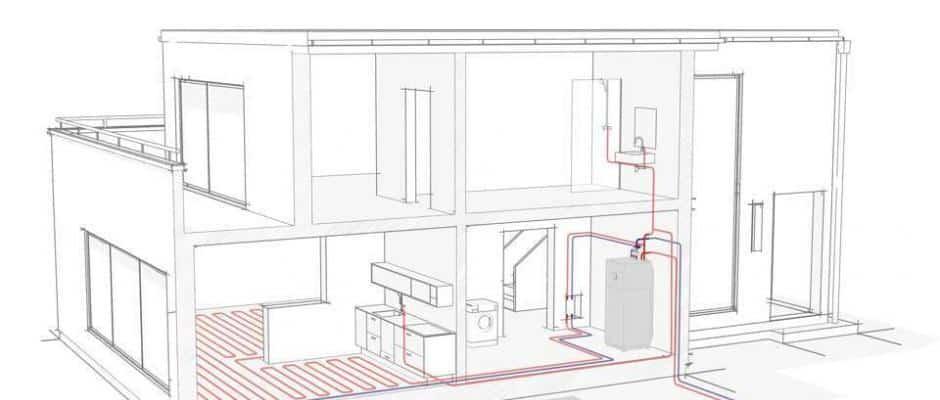 Neubau mit Wärmepumpe