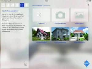 Beim integrierten Fensterkonfigurator kann der Anwender zwischen verschiedenen Möglichkeiten wählen, um die Fenster in einem Gebäude zu gestalten. Beispielhäusern stehen zur Verfügung, zudem können auch eigene Bilder hochgeladen und bearbeitet werden. Fotonachweis: Veka/txn