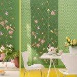 """Kaum eine Farbe versprüht so viel gute Laune wie Grün. Zum Beispiel """"Zuhause Wohnen 4"""" von Marburger Tapetenfabrik. Foto: djd/Deutsches Tapeten-Institut GmbH"""