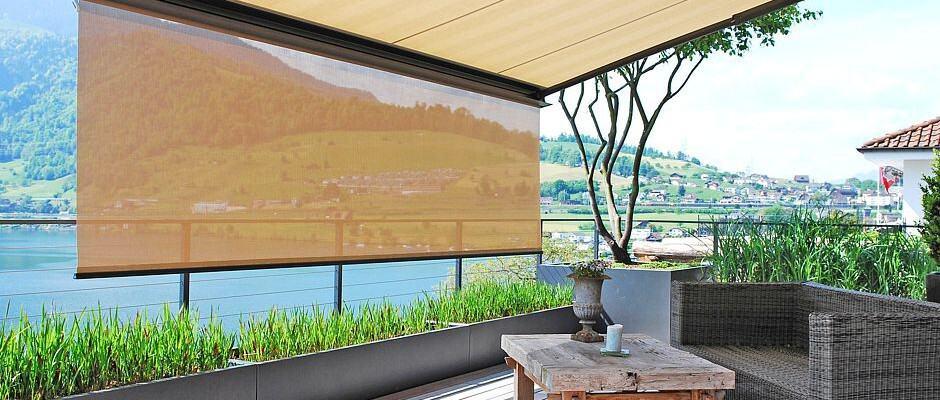 Markisen sorgen für flexiblen Blick- und Blendschutz. Foto: djd/Klaiber Sonnen- und Wetterschutztechnik