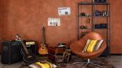 Rost ist in: An die Farbe von edel gealtertem Metall erinnert die neue Trendstruktur für die Wand. Foto: djd/SCHÖNER WOHNEN-FARBE