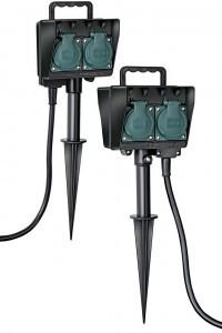 Gartensteckdosen mit Erdspieß sind eine gute Lösung, wenn man Strom ohne großen Aufwand dauerhaft im Garten verfügbar machen will. Foto: djd/Hugo Brennenstuhl GmbH & Co.KG