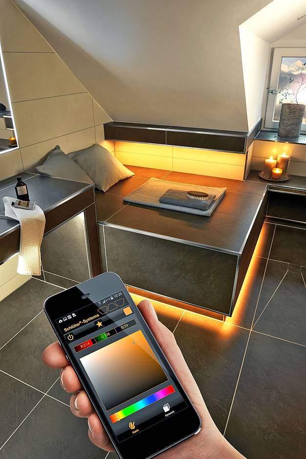 lichtsteuerung per app jetzt auf immobilien und hausbau. Black Bedroom Furniture Sets. Home Design Ideas