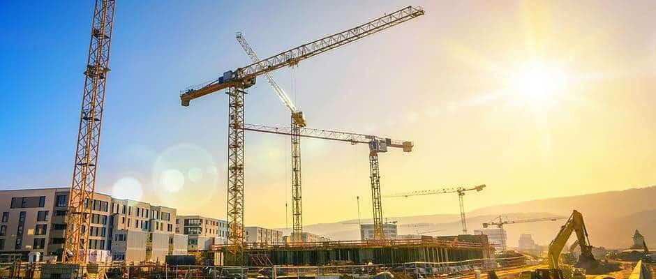 Baustelle für Mehrfamilienhäuser