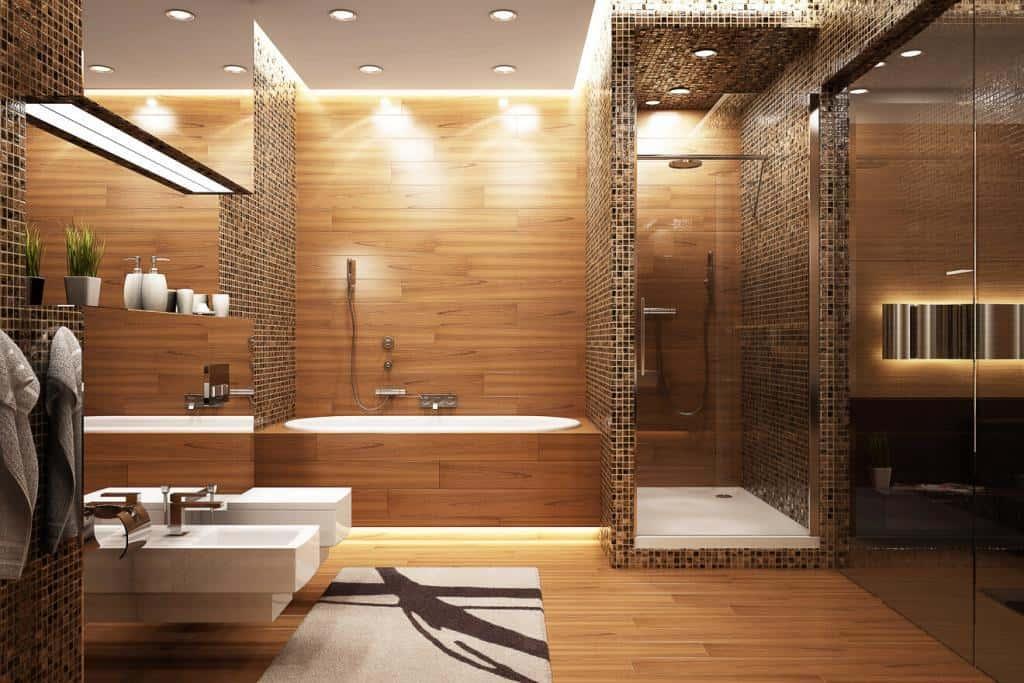Designerbadezimmer mit Mosaikfliesen