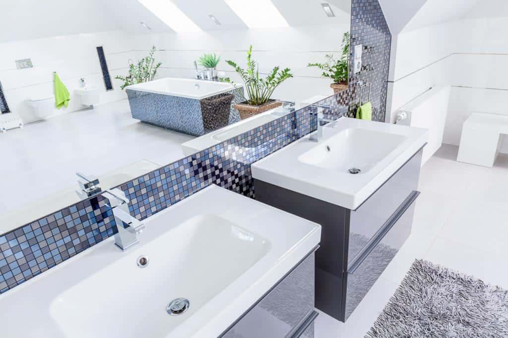 Mosaikfliesen im Badezimmer