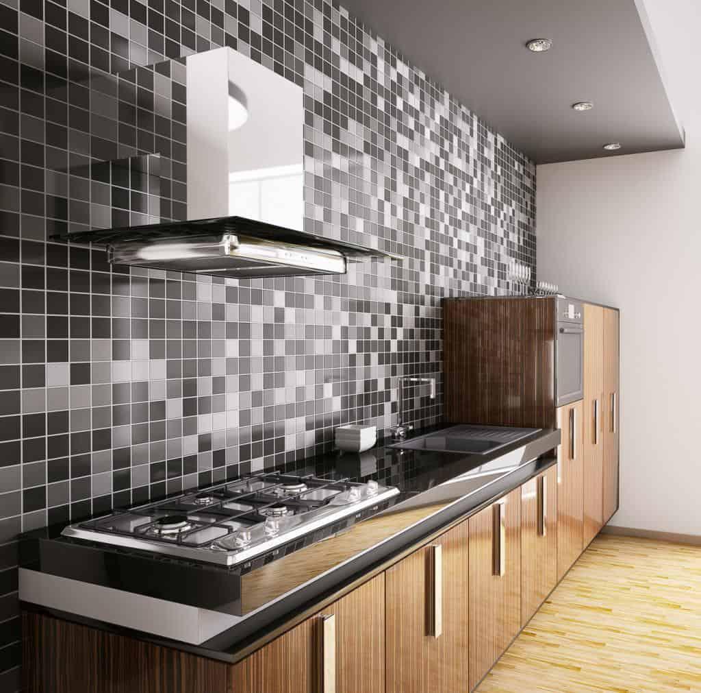 Mosaikfliesen in der Küche