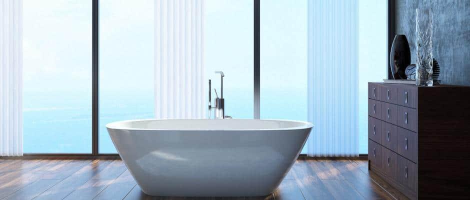 Badgestaltung mit freistehenden Badewannen
