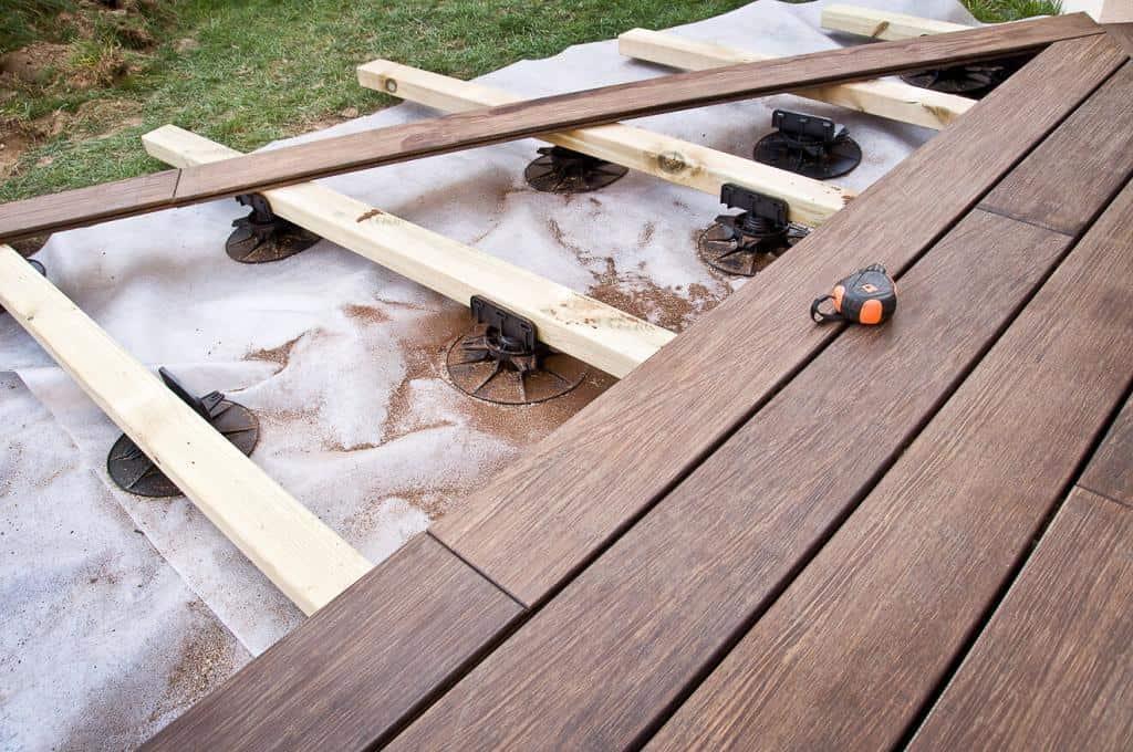 Die Planung der Unterkonstruktion für die Terrasse