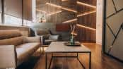 LED-Profil als Wanddeko