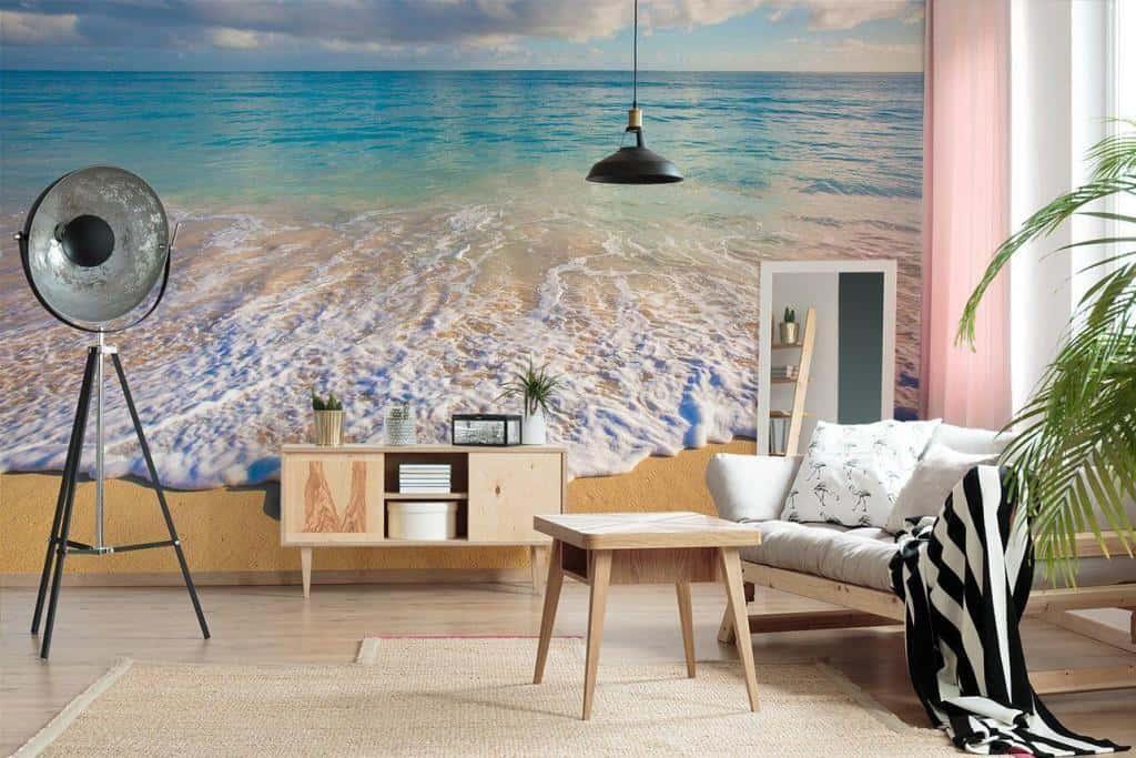 Fototapete Strand und Wellen im Wohnzimmer